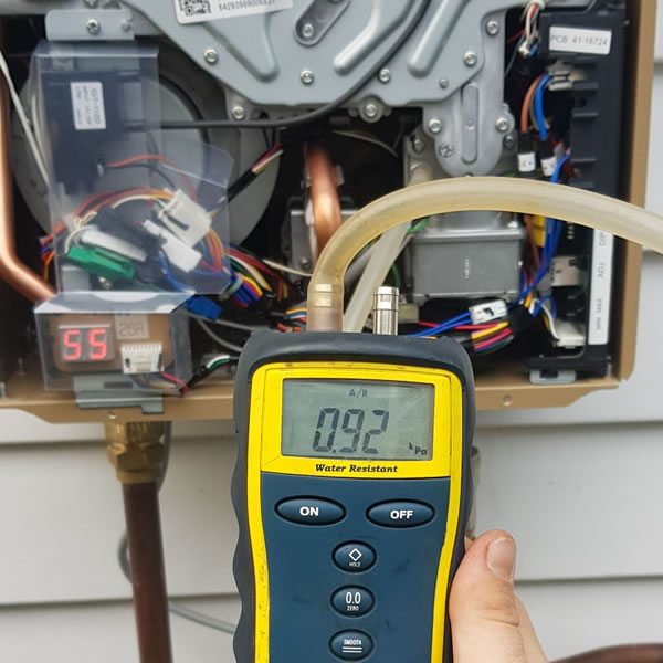 Gas water heater repair